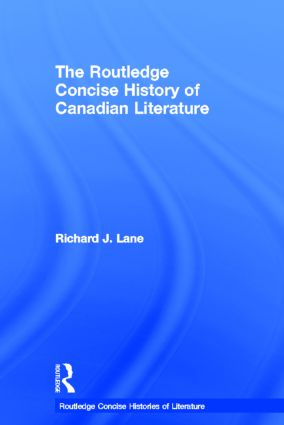 The Routledge Concise History of Canadian Literature book cover
