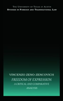 Freedom of Expression: A critical and comparative analysis book cover