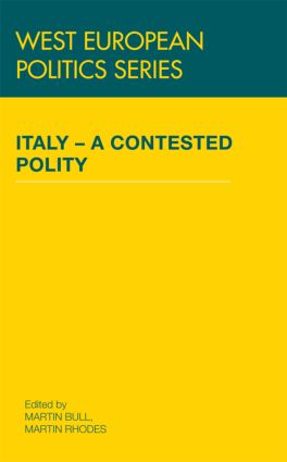 Italy - A Contested Polity (Hardback) book cover