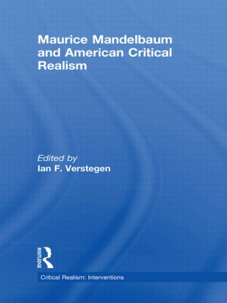 Maurice Mandelbaum and American Critical Realism (Hardback) book cover