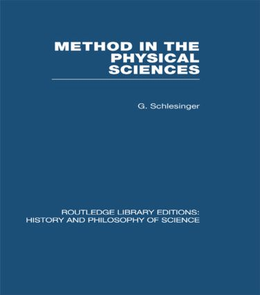 Method in the Physical Sciences (Hardback) book cover