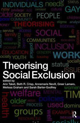 Theorising Social Exclusion (Paperback) book cover