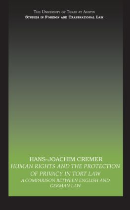 Human Rights and the Protection of Privacy in Tort Law: A Comparison between English and German Law book cover