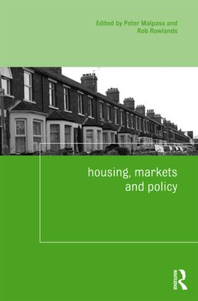 Housing, Markets and Policy book cover
