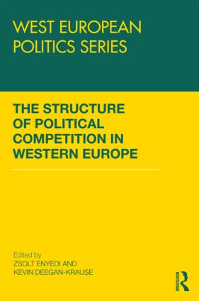 The Structure of Political Competition in Western Europe (Hardback) book cover