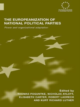 The Europeanization of National Political Parties: Power and Organizational Adaptation (Paperback) book cover