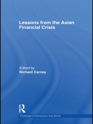 Lessons from the Asian Financial Crisis (Hardback) book cover