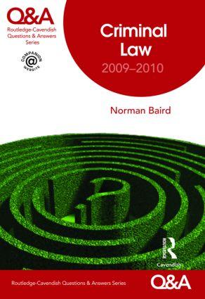 Q&A Criminal Law 2009-2010