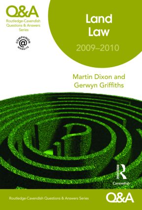 Q&A Land Law 2009-2010 book cover