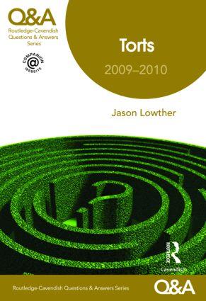 Q&A Torts 2009-2010 8/e book cover
