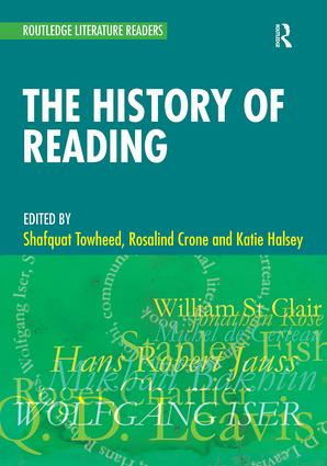 The History of Reading (Paperback) book cover