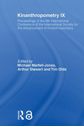 Kinanthropometry IX: Proceedings of the 9th International Conference of the International Society for the Advancement of Kinanthropometry (Paperback) book cover