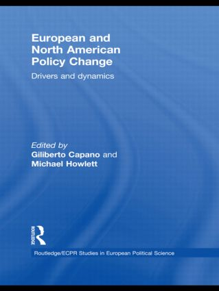 European and North American Policy Change: Drivers and Dynamics, 1st Edition (Hardback) book cover