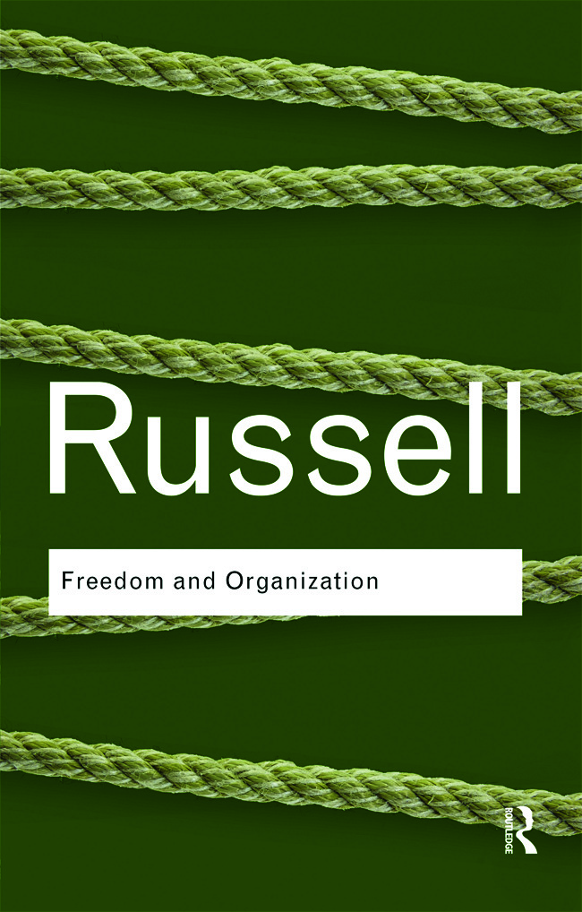 Freedom and Organization: 1st Edition (Paperback) book cover