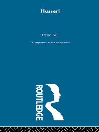 Husserl - Arg Phil: 1st Edition (Paperback) book cover