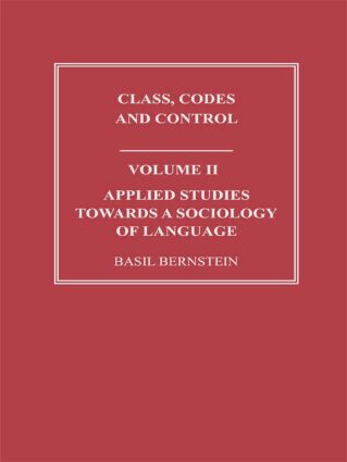 Applied Studies Towards a Sociology of Language (Paperback) book cover