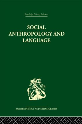 Social Anthropology and Language