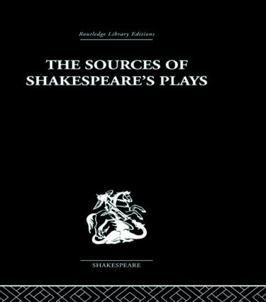 The Sources of Shakespeare's Plays (Paperback) book cover