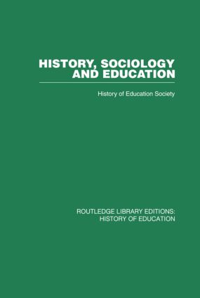 History, Sociology and Education (Paperback) book cover
