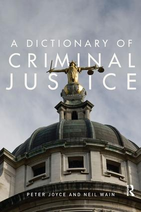 A Dictionary of Criminal Justice (Paperback) book cover