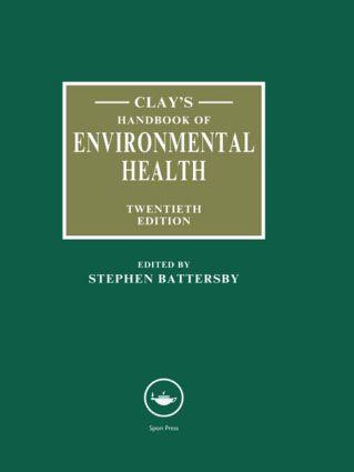 Clay's Handbook of Environmental Health: 20th Edition (Hardback) book cover