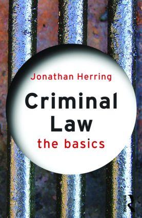 Criminal Law: The Basics (Paperback) book cover