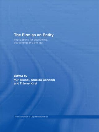 The Firm as an Entity: Implications for Economics, Accounting and the Law (Paperback) book cover