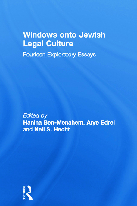 Windows onto Jewish Legal Culture: Fourteen Exploratory Essays book cover