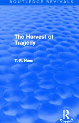 The Harvest of Tragedy (Routledge Revivals) (Hardback) book cover