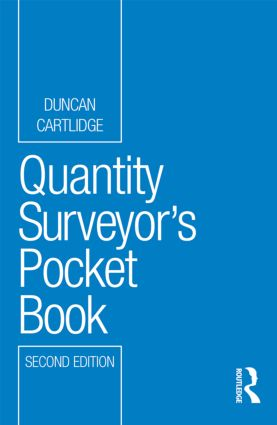 Quantity Surveyor's Pocket Book: 2nd Edition (Paperback) book cover