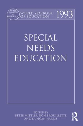 World Yearbook of Education 1993: Special Needs Education (Paperback) book cover