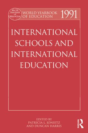 World Yearbook of Education 1991: International Schools and International Education, 1st Edition (Paperback) book cover