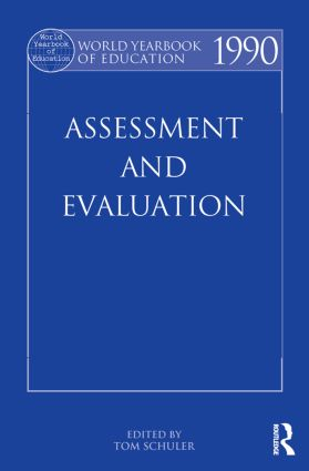 World Yearbook of Education 1990: Assessment and Evaluation (Paperback) book cover