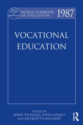 World Yearbook of Education 1987: Vocational Education, 1st Edition (Paperback) book cover