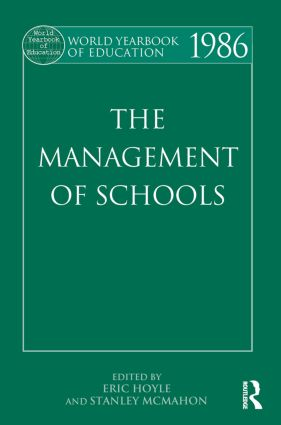 World Yearbook of Education 1986: The Management of Schools, 1st Edition (Paperback) book cover