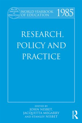 World Yearbook of Education 1985: Research, Policy and Practice, 1st Edition (Paperback) book cover