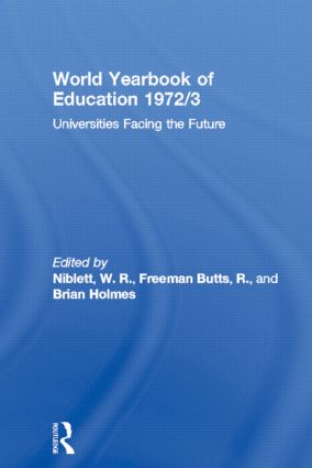 World Yearbook of Education 1972/3: Universities Facing the Future book cover