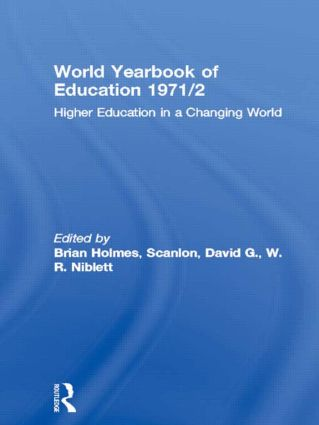 World Yearbook of Education 1971/2: Higher Education in a Changing World (Paperback) book cover