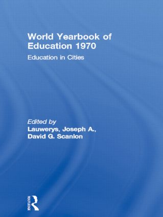 World Yearbook of Education 1970: Education in Cities, 1st Edition (Paperback) book cover