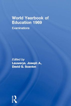 World Yearbook of Education 1969: Examinations, 1st Edition (Paperback) book cover