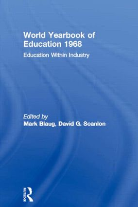 World Yearbook of Education 1968: Education Within Industry, 1st Edition (Paperback) book cover