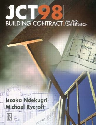 JCT98 Building Contract: Law and Administration book cover