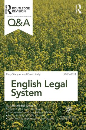 Q&A English Legal System 2013-2014: 10th Edition (Paperback) book cover