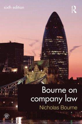 Bourne on Company Law: 6th Edition (Paperback) book cover