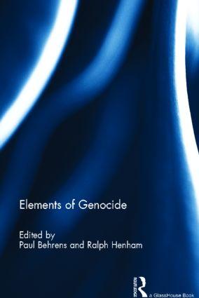 Elements of Genocide (Hardback) book cover