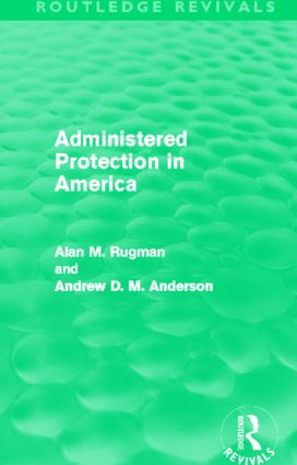 Administered Protection in America (Routledge Revivals): 1st Edition (Paperback) book cover