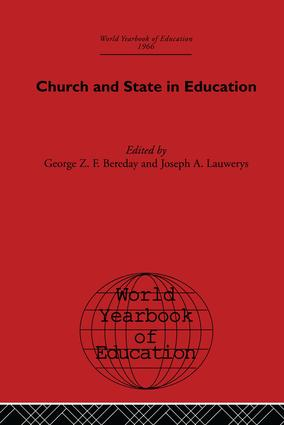 World Yearbook of Education 1966: Church and State in Education, 1st Edition (Paperback) book cover