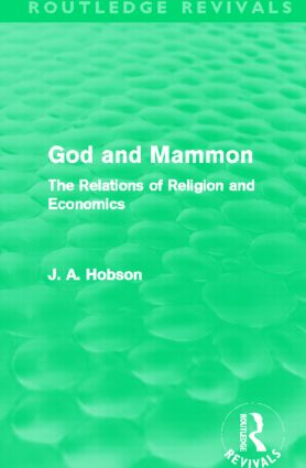 God and Mammon (Routledge Revivals): The Relations of Religion and Economics (Paperback) book cover