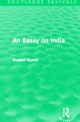 An Essay on India (Routledge Revivals): 1st Edition (Paperback) book cover