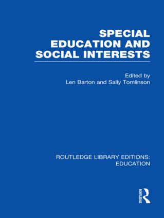 Special Education and Social Interests (RLE Edu M) (Hardback) book cover